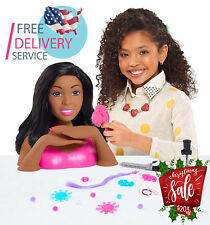 Barbie Styling Head (Black Hair Color) Brown Mailer Deluxe Doll With 22 Pcs Set
