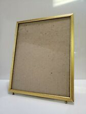 Vintage Gold Metal Picture Frame Ball Footed 8 X 10
