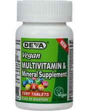 Deva Vegan Multivitamin & Mineral Supplement IRON FREE- 90 Tiny Tabs EXP 11/19