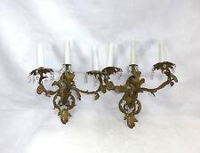 Zwei Wandleuchter Kandelaber um 1820 Frankreich / Schweiz Bronze vergoldet