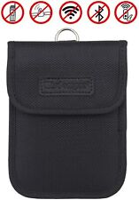 Faraday Bag for Key Fob, Wisdompro Wp4694 Rfid Fob Protector Rf Car Black