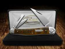 CASE XX Tang Stamps Curly Oak Wood Seahorse Whittler Pocket Knife Stainless