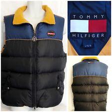Tommy Hilfiger Vintage Classic Racing Mens Full Zip Puffer Jacket Vest Size L