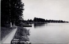Boats on OTSEGO LAKE, Michigan Real Photo Postcard - L.L. Cook