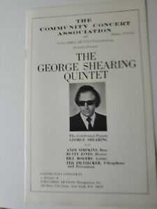 George shearing program and inscribed photo