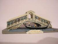 Gondel Venedig mit Rialto Brücke Venezia,16 cm,Polyresin,Gondola