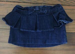 BabyGap Toddler Girl Jean Denim Ruffle Peplum Skirt - Size 12-18 Months