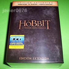 EL HOBBIT LA TRILOGIA EDICION EXTENDIDA 15 DISCOS DVD PACK NUEVO Y PRECINTADO