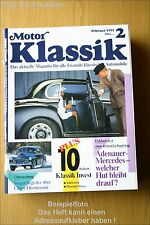 Motor Klassik 2/91 DB 300 Porsche Abarth 1000 TCR