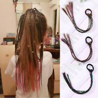 Girls Elastic Rubber Band Hair Accessories Wig Ponytail Kids Headband ca