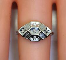 Vintage 14K White Gold LoveBright NY .05 Ct Diamond Ring Size 6 Not Scrap