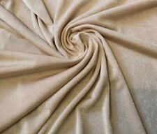 4 metre length stone/sand slinky stretch cling fabric