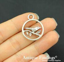 10Pcs Bird Branch Charm Antique Silver Charm Necklace Pendant SC554