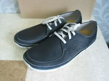 NEW MENS CLARKS TRIGENIC TRIKEYON FLY NAVY LEATHER TRAINERS SHOES various sizes