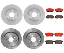 Front & Rear Brembo Brake Kit Disc Rotors Ceramic Pads For Ford Edge Lincoln MKX