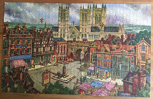 "VINTAGE 1200 PIECE JIGSAW PUZZLE ""THE CATHEDRAL CITY""-Wells,Somerset -No.4569/4"