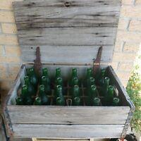 GOETZ Brewery Wood Crate Green Beer Bottles Kansas City Prohibition VTG