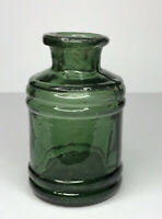 Old Antique Inkwell of the 1800s. Ink Well Glass.Thick heavy glass