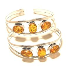 Amber Free Shipping Lot Cuff 925 Silver Overlay Gemstone Jewellery