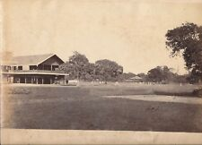 Original Photo The Cricket Team Rangoon Burma ( Yangon Myanmar ) 1879