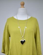 LAGENLOOK BEAUTIFUL QUIRKY BOHO GERMANY STYLE LONG HEART PENDANT(19) NECKLACE