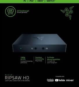 Razer Ripsaw HD - Game Capture Card Profi-Streaming (Full-HD 1080p-60 FPS-4K)