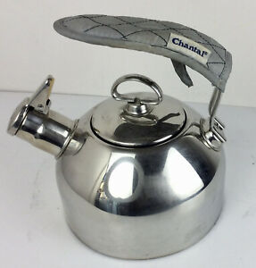 Chantal Stainless Steel Tea Kettle SL37  19 Hohner Harmonica Whistle 1.8 Qt READ