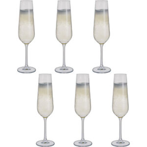 Dartington Crystal Champagne Flutes 200ml 6 PACK Select Collection Height 244mm