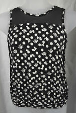 Next Petite Black and White Top Size UK 12
