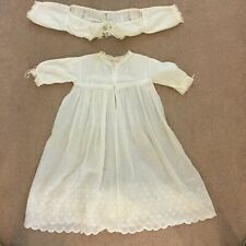 ANTIQUE EMBROIDERED CHRISTENING DRESS AND YOKE