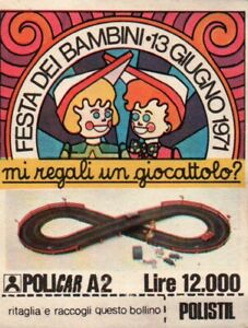 ADESIVO - FESTA DEI BAMBINI 1971 - POLICAR POLISTIL - LIRE 12.000
