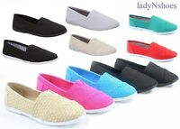 NEW Women's Causal Web Slip On Round Toe Flat Comfort Sneaker Shoes Size 5 - 10