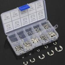 120Pcs 304 Stainless Steel E-Clip Retaining Circlip Assortment Kit 1.5mm to10mm@