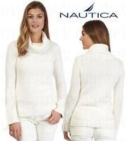NEW WOMENS NAUTICA CHUNKY TURTLENECK SWEATER! KNIT COWL NECK SWEATER! VARIETY