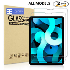 2 Pack Fits Apple iPad Tempered Glass Screen Protector Mini Air Pro 11 10.2 12.9