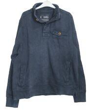Fat Face Mens Indigo Blue Dye Half Neck Sweatshirt  Sweater  Top - Size XXL - XS