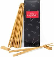 Bamboo Chopsticks Reusable Chopsticks Wooden Chopsticks Set 10 Pairs 9 Inch