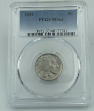 1934 PCGS MS63 Buffalo Nickel Great Looking Coin!