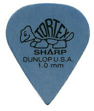 Dunlop 412p - 12 Plettri Tortex 'sharp' Blue 1.0mm