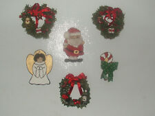 Lot of 6 Hand Made Fridge Magnets Christmas