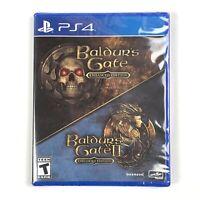 Baldur's Gate I & II/1 & 2 - Enhanced Edition (PS4, 2019) Brand New/Sealed