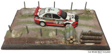 """Forest logs & BOUE"" rallye échelle 1/43 Handcrafted léger modèle Display Base"