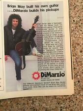 1985 Vintage 5X7 Print Ad For DiMarzio+ Brian May Model Guitar Pickups Queen