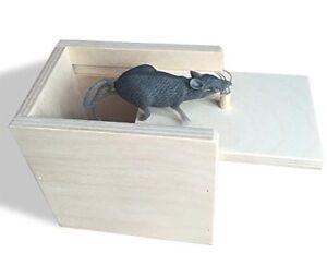 Hilarious Scare Box Mouse Prank - Wooden Scarebox Joke Amish Made Amish Wooden