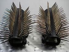 LEATHER GIANT LONG SPIKE GAUNTLETS.BLACK METAL...(MDLG0110).....KATHARSIS'S