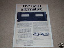 SAE 2400 Amplifier Ad, Specs, Article, Specs, Info,1 pg