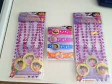Nick Jr. Dora 6 Beaded Necklaces & 4 Dora Stretch Bracelets Party Favors New!!