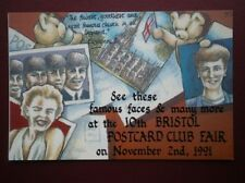 POSTCARD ADVERT ADVERT FOR 10TH BRISTOL POSTCARD FAIR NOV 2