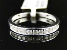 10K Ladies White Gold Round Diamond Channel Engagement Wedding Band Ring 0.27 Ct