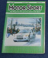 Motor Sport March 1985 Porsche 944 turbo, Francois Cevert, ListerJaguar